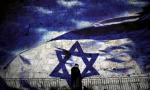 Israel-flag-on-wall-600x360